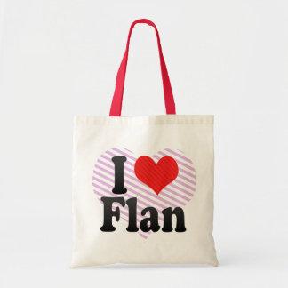 I Love Flan Tote Bag