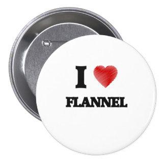 I love Flannel Pinback Button