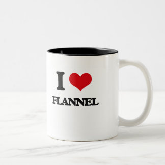 i LOVE fLANNEL Two-Tone Coffee Mug