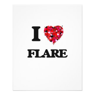 """I Love Flare 4.5"""" X 5.6"""" Flyer"""