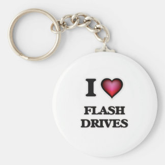 I love Flash Drives Keychain