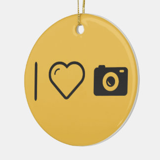 I Love Flash Torchs Double-Sided Ceramic Round Christmas Ornament