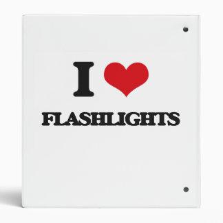 i LOVE fLASHLIGHTS Vinyl Binders