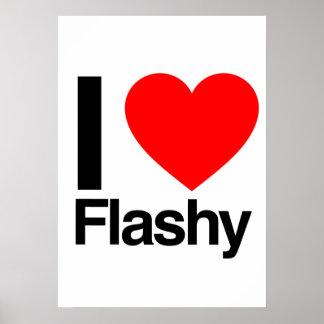 i love flashy print