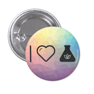 I Love Flask Heats 1 Inch Round Button