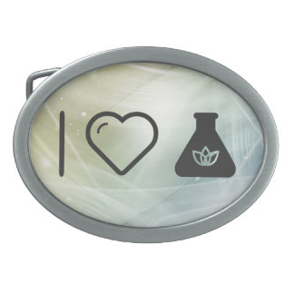 I Love Flask Heats Belt Buckles