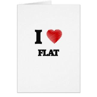 I love Flat Card