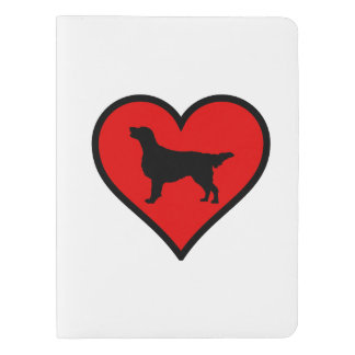 I Love Flat-Coated Retriever Silhouette Heart Extra Large Moleskine Notebook Cover With Notebook