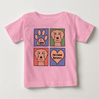I Love Flat-Coated Retrievers Baby T-Shirt