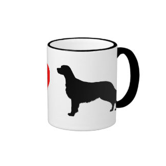 I Love Flat Coated Retrievers Ringer Mug