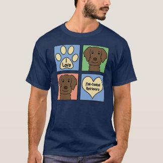 I Love Flat-Coated Retrievers T-Shirt
