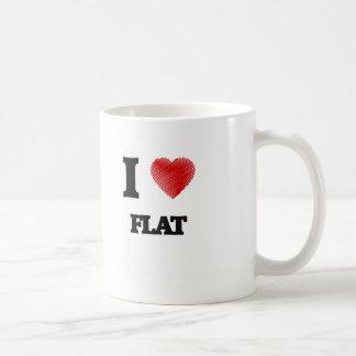 I love Flat Coffee Mug