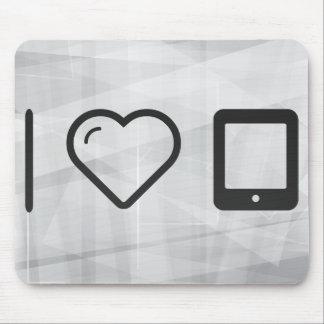 I Love Flat Phones Mouse Pad