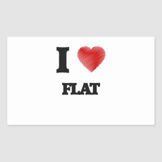 I love Flat Rectangular Sticker