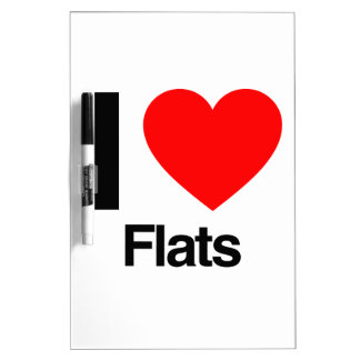 i love flats Dry-Erase whiteboard