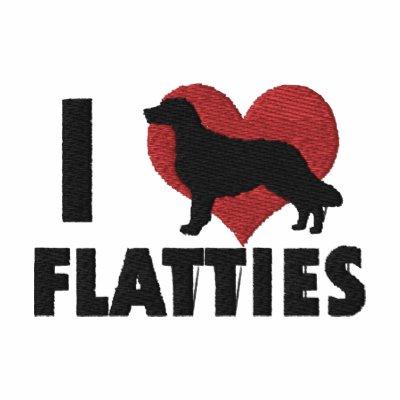 I Love Flatties Embroidered T-Shirt
