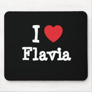 I love Flavia heart T-Shirt Mouse Pad