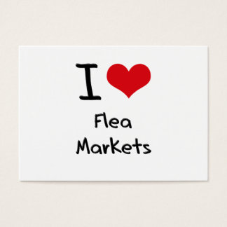 I Love Flea Markets Business Card