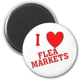 I Love Flea Markets Magnet