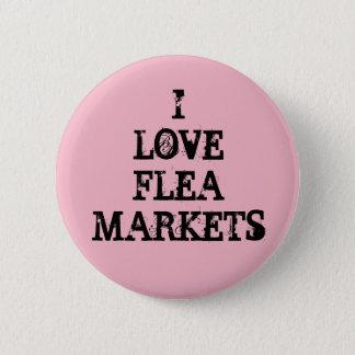 I Love Flea Markets Pinback Button