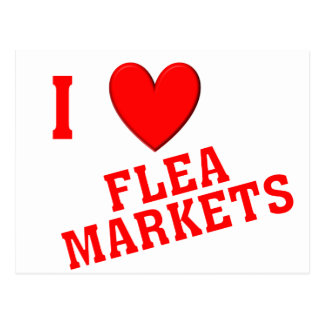 I Love Flea Markets Postcard