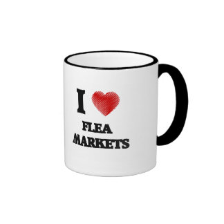 I love Flea Markets Ringer Mug