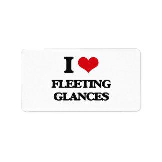 i LOVE fLEETING gLANCES Personalized Address Label