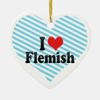 I Love Flemish Christmas Ornament