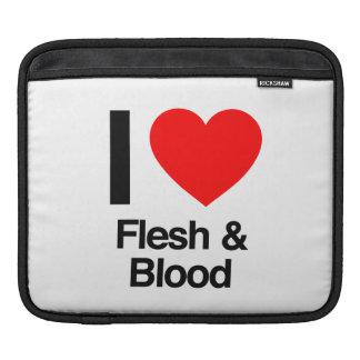 i love flesh and blood iPad sleeves