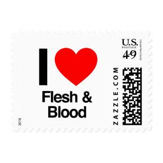 i love flesh and blood postage stamp