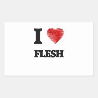 I love Flesh Rectangular Sticker