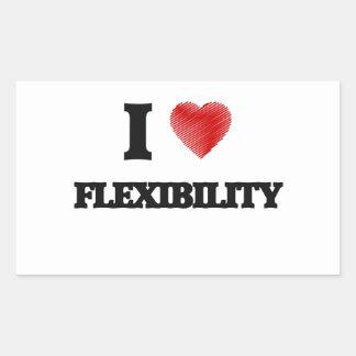 I love Flexibility Rectangular Sticker