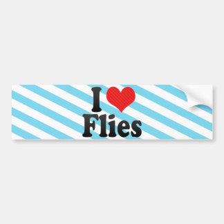 I Love Flies Bumper Stickers