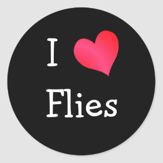 I Love Flies Classic Round Sticker