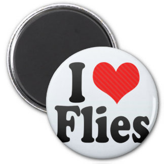 I Love Flies Refrigerator Magnets