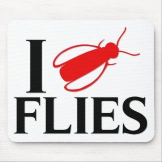 I Love Flies Mouse Pad