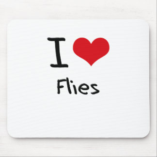 I Love Flies Mouse Pads
