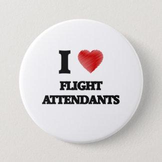 I love Flight Attendants Button