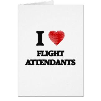 I love Flight Attendants Card