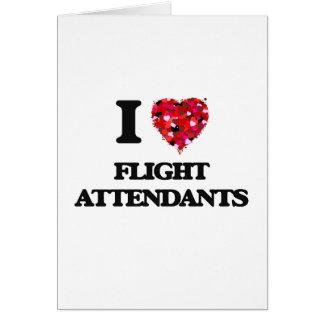 I Love Flight Attendants Greeting Card