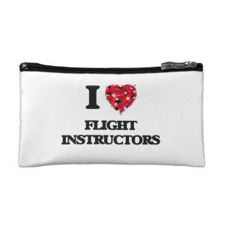 I love Flight Instructors Cosmetic Bags