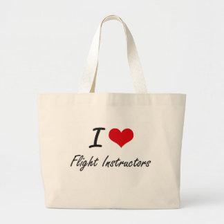 I love Flight Instructors Jumbo Tote Bag