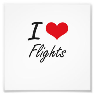 I love Flights Photo Print