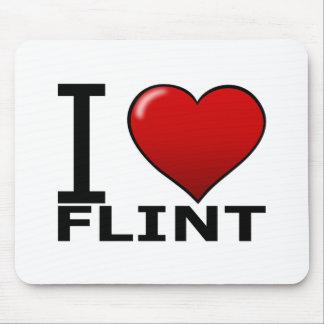 I LOVE FLINT, MI - MICHIGAN MOUSE PAD