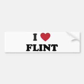 I love Flint Michigan Bumper Sticker