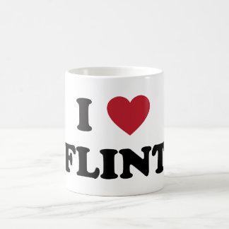 I love Flint Michigan Classic White Coffee Mug
