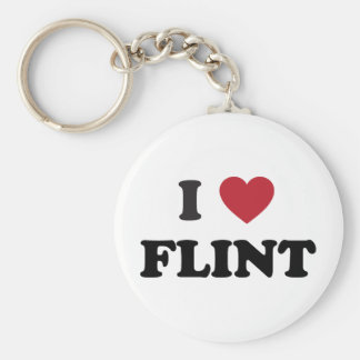 I love Flint Michigan Keychain