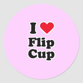 I love flip cup round stickers