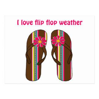 I Love Flip Flop Weather Postcard