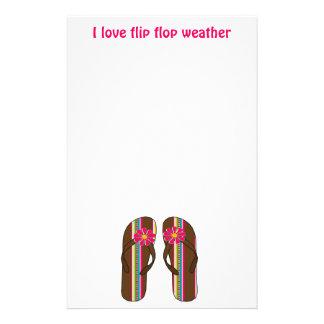 I Love Flip Flop Weather Stationery